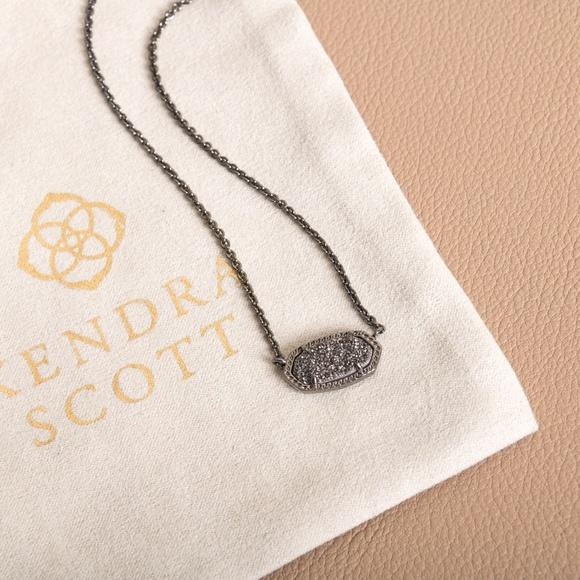 Kendra Scott Jewelry - Kendra Scott Elisa Black Drusy Necklace New